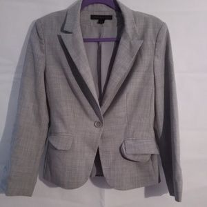 Express Design Studio 1 Button Grey Blazer